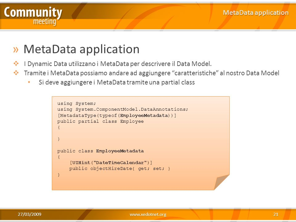 MetaData application MetaData application