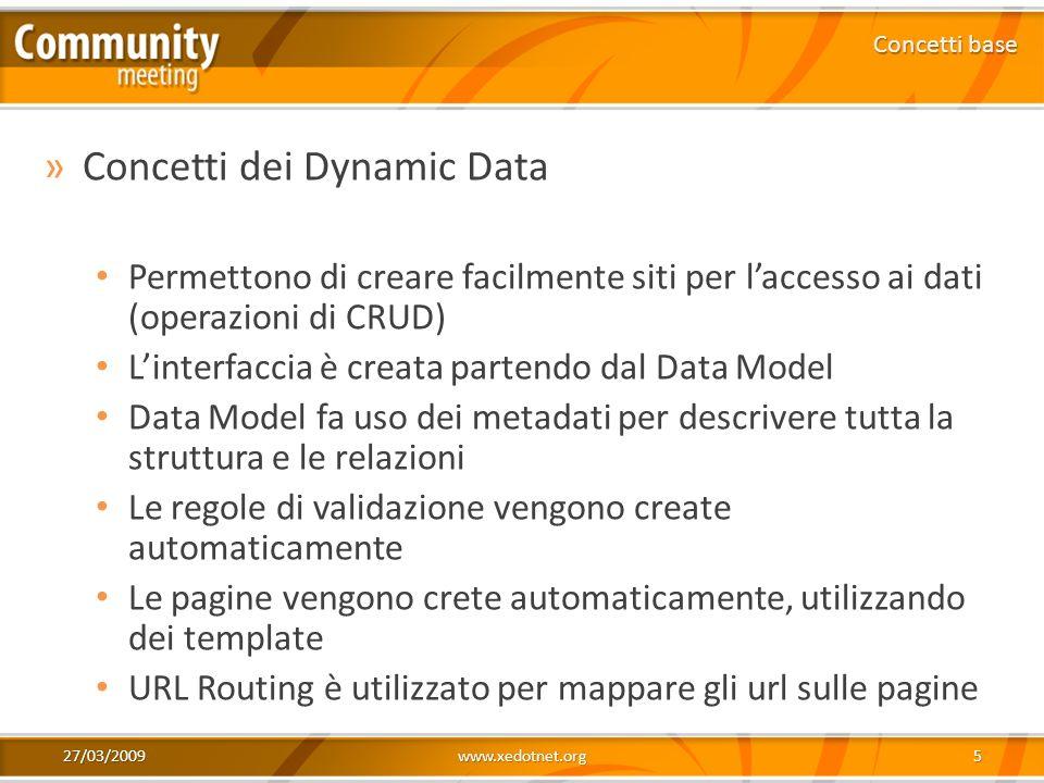 Concetti dei Dynamic Data