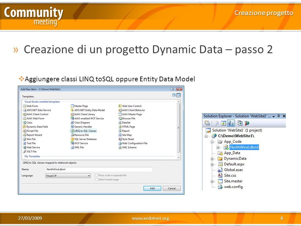 Creazione di un progetto Dynamic Data – passo 2