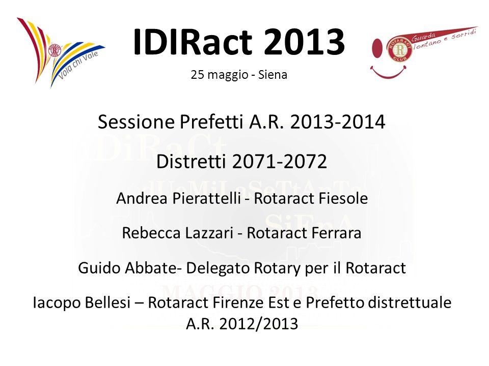 Sessione Prefetti A.R. 2013-2014 Distretti 2071-2072