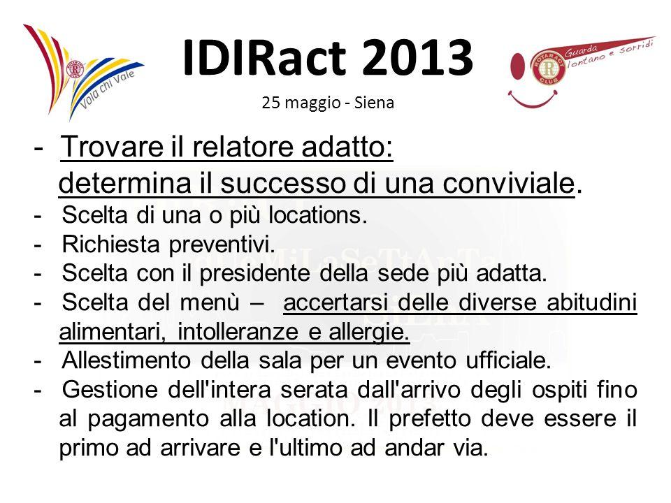 - Trovare il relatore adatto: determina il successo di una conviviale.