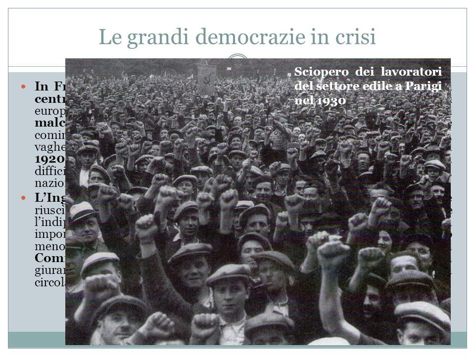 Le grandi democrazie in crisi