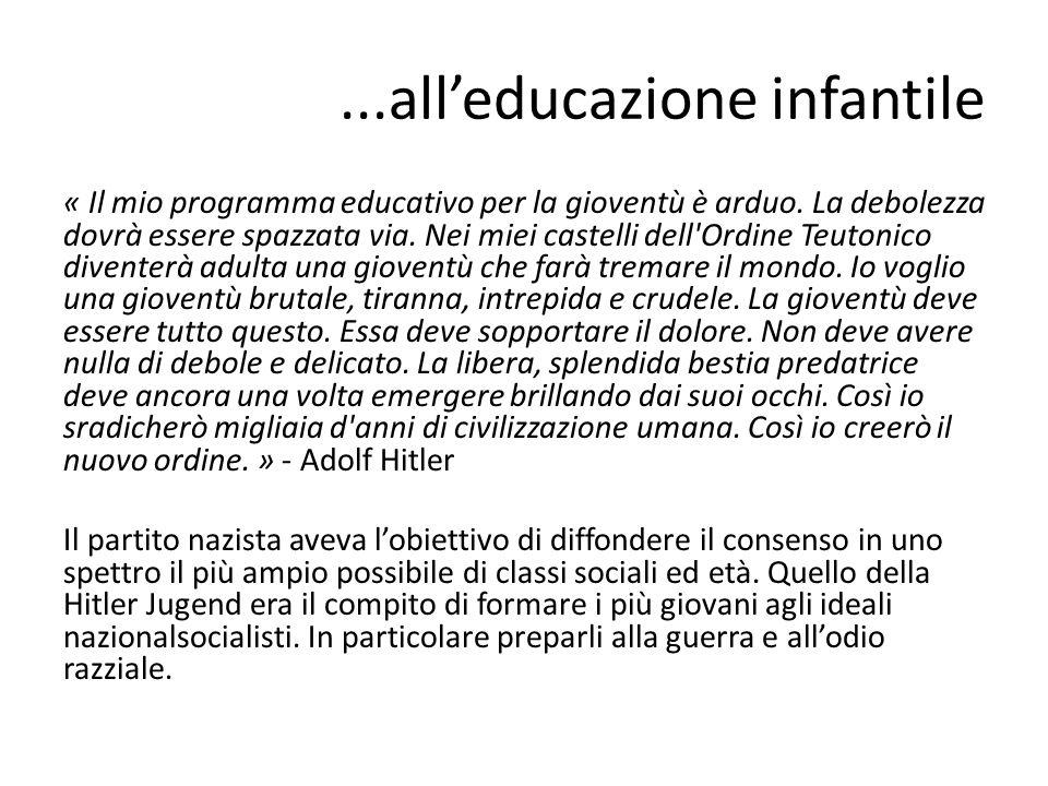 ...all'educazione infantile