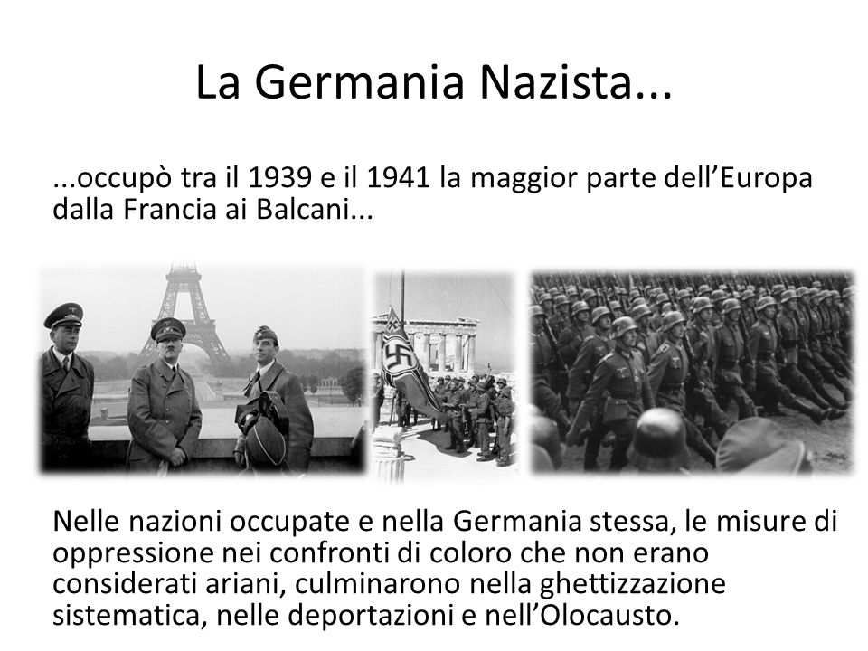 La Germania Nazista...