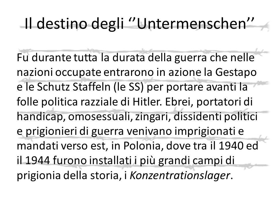 Il destino degli ''Untermenschen''