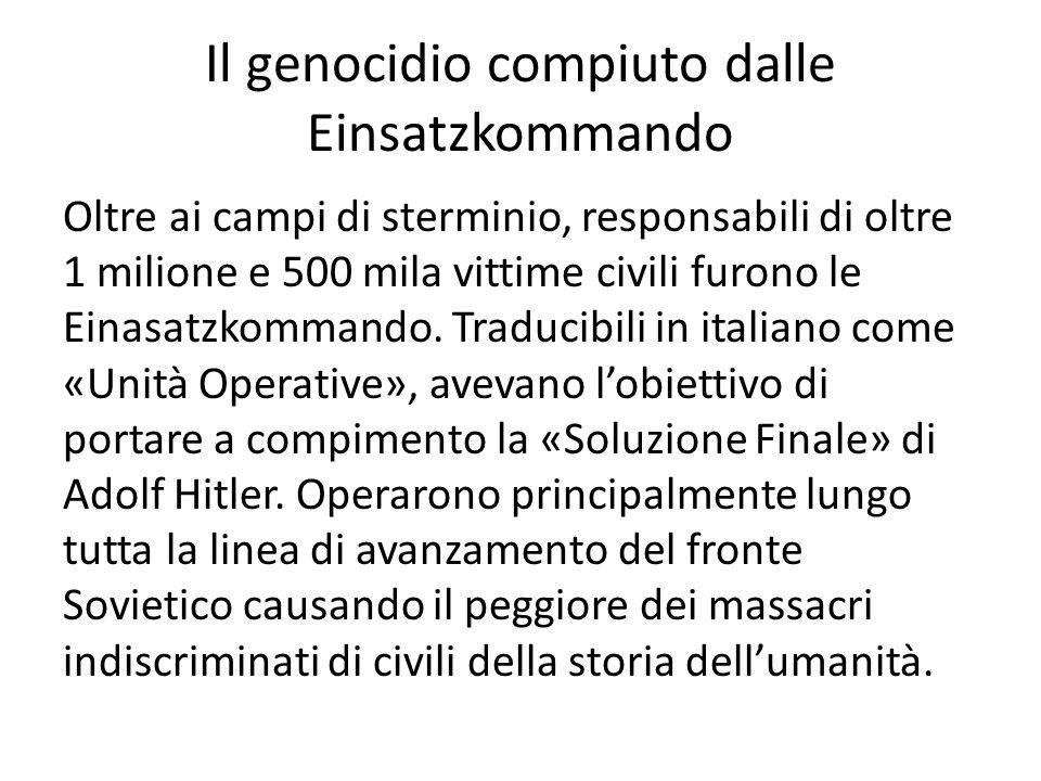Il genocidio compiuto dalle Einsatzkommando