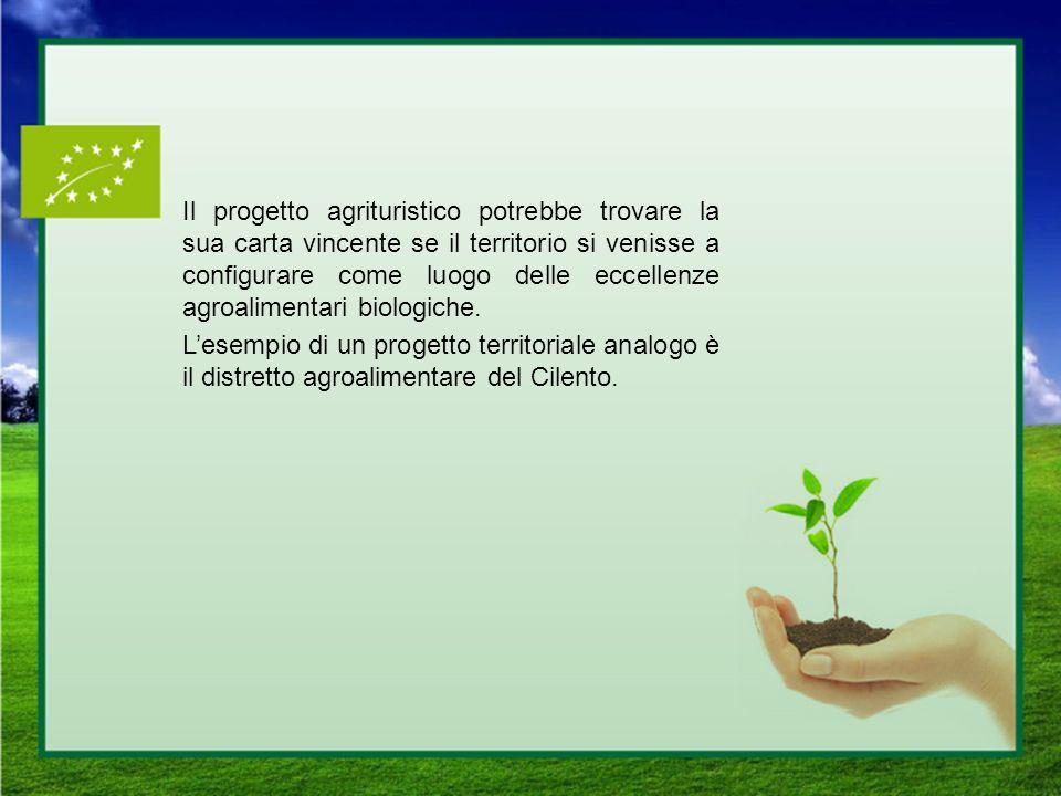 Il progetto agrituristico potrebbe trovare la sua carta vincente se il territorio si venisse a configurare come luogo delle eccellenze agroalimentari biologiche.