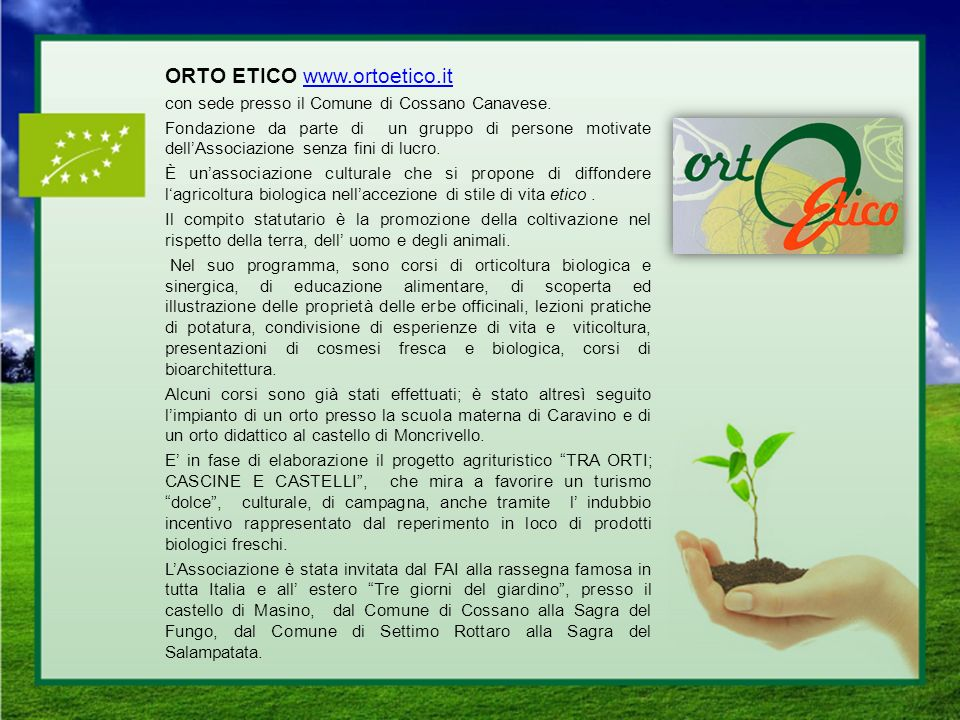 ORTO ETICO www.ortoetico.it