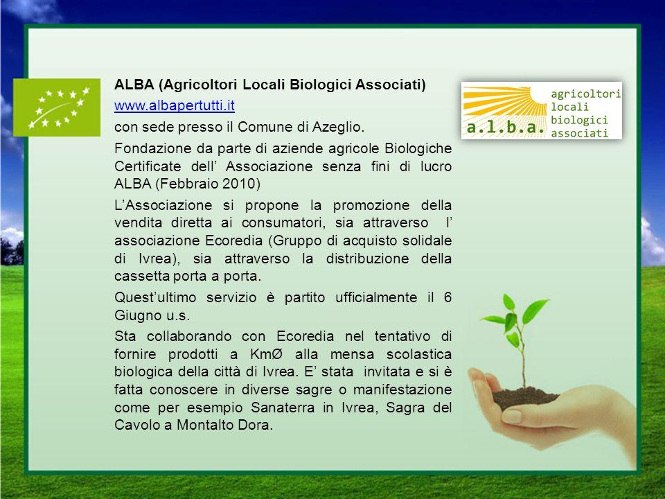 ALBA (Agricoltori Locali Biologici Associati) www. albapertutti