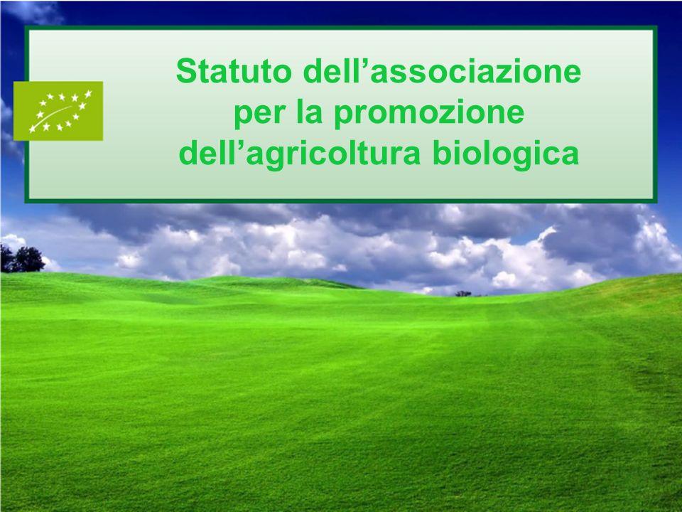 Statuto dell'associazione per la promozione dell'agricoltura biologica