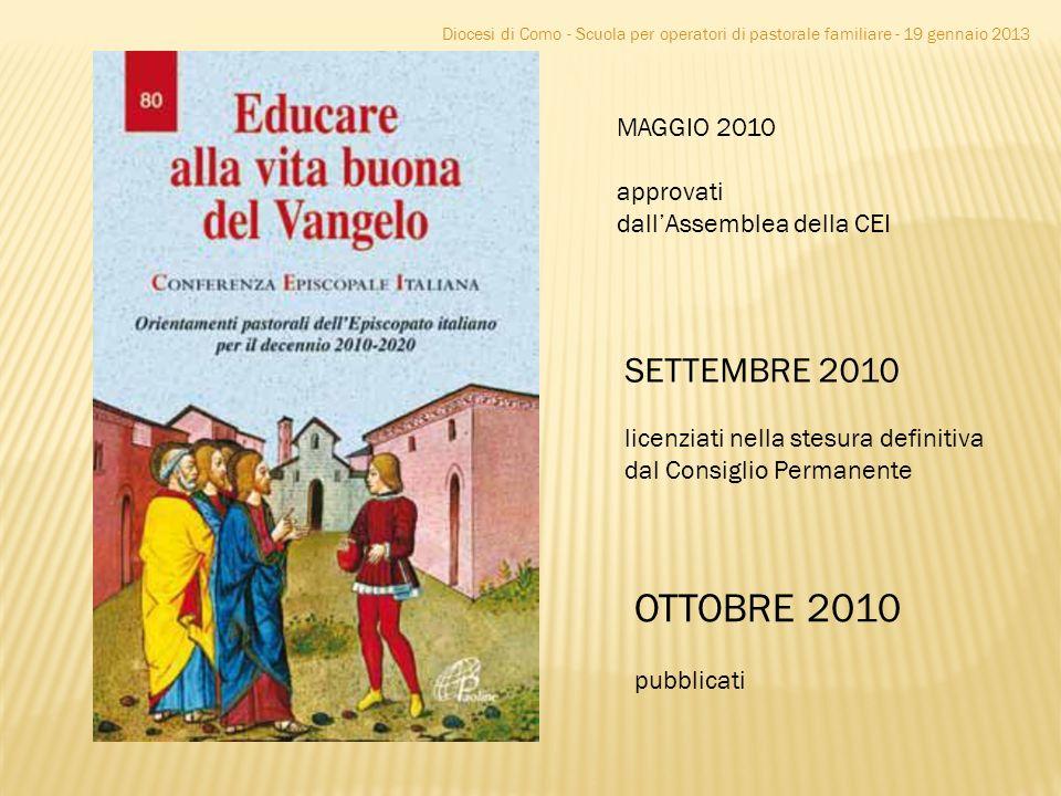 OTTOBRE 2010 SETTEMBRE 2010 MAGGIO 2010 approvati