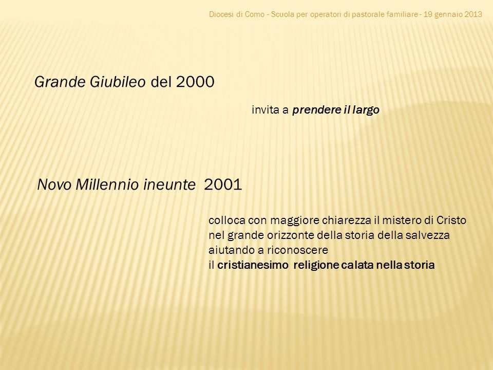 Novo Millennio ineunte 2001