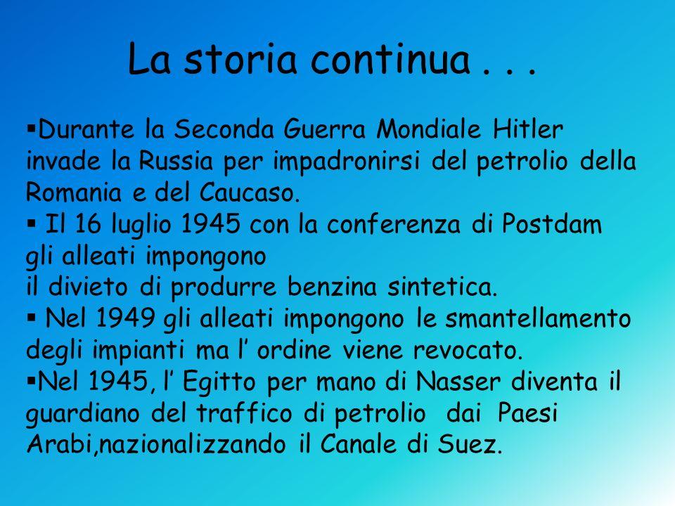 La storia continua . . . Durante la Seconda Guerra Mondiale Hitler invade la Russia per impadronirsi del petrolio della Romania e del Caucaso.