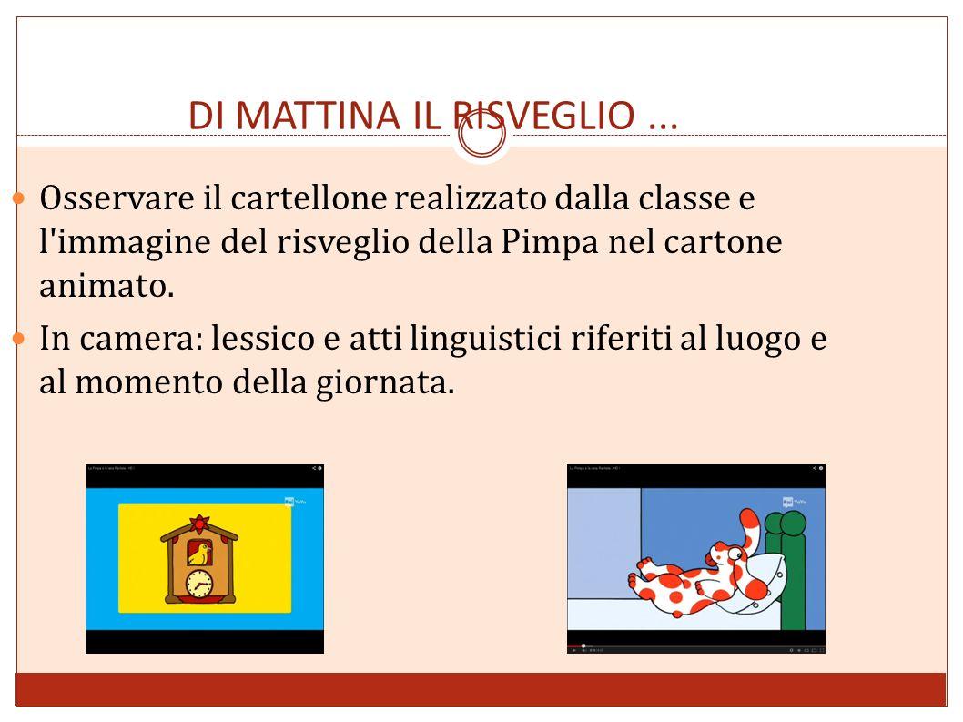 DI MATTINA IL RISVEGLIO ...