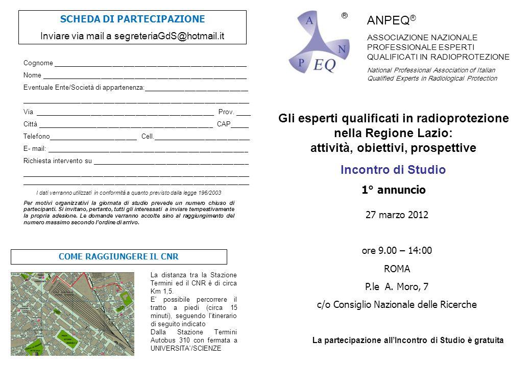 Gli esperti qualificati in radioprotezione nella Regione Lazio: