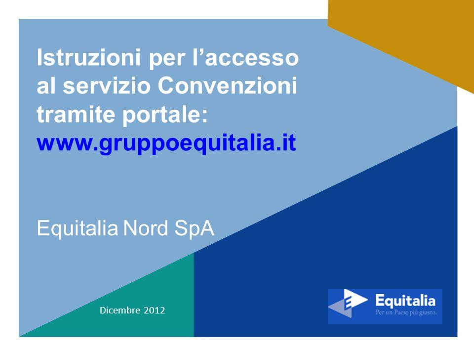 Istruzioni per l'accesso al servizio Convenzioni tramite portale: www