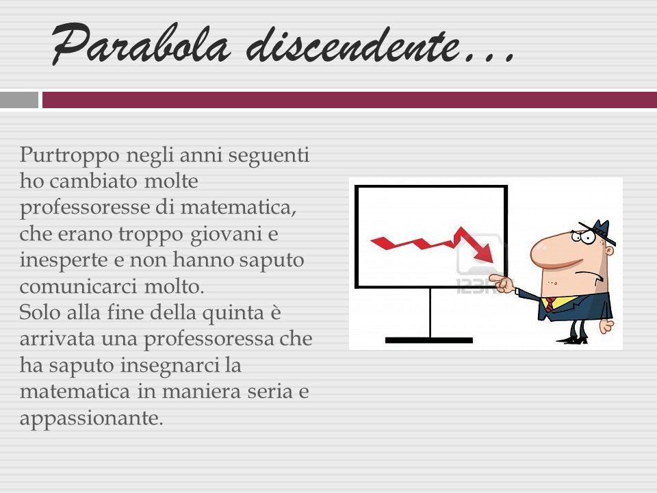 Parabola discendente…