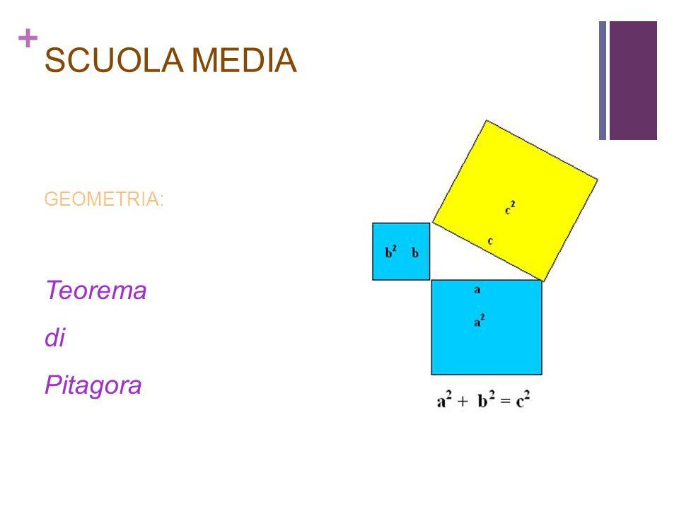 SCUOLA MEDIA GEOMETRIA: Teorema di Pitagora