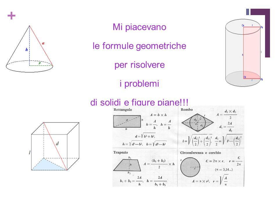 le formule geometriche per risolvere i problemi