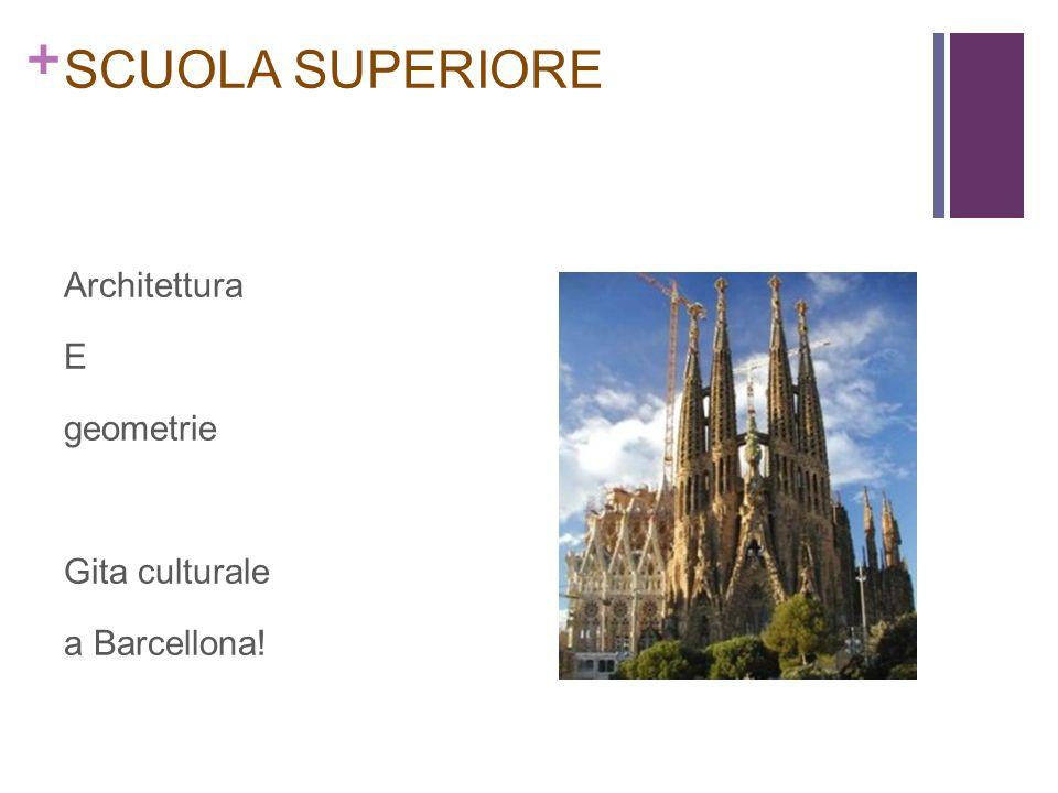 SCUOLA SUPERIORE Architettura E geometrie Gita culturale a Barcellona!