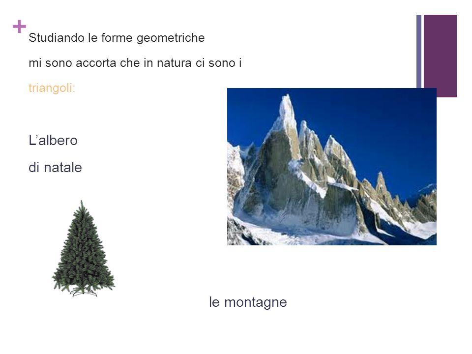 L'albero di natale le montagne Studiando le forme geometriche