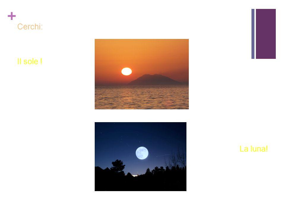 Cerchi: Il sole ! La luna!