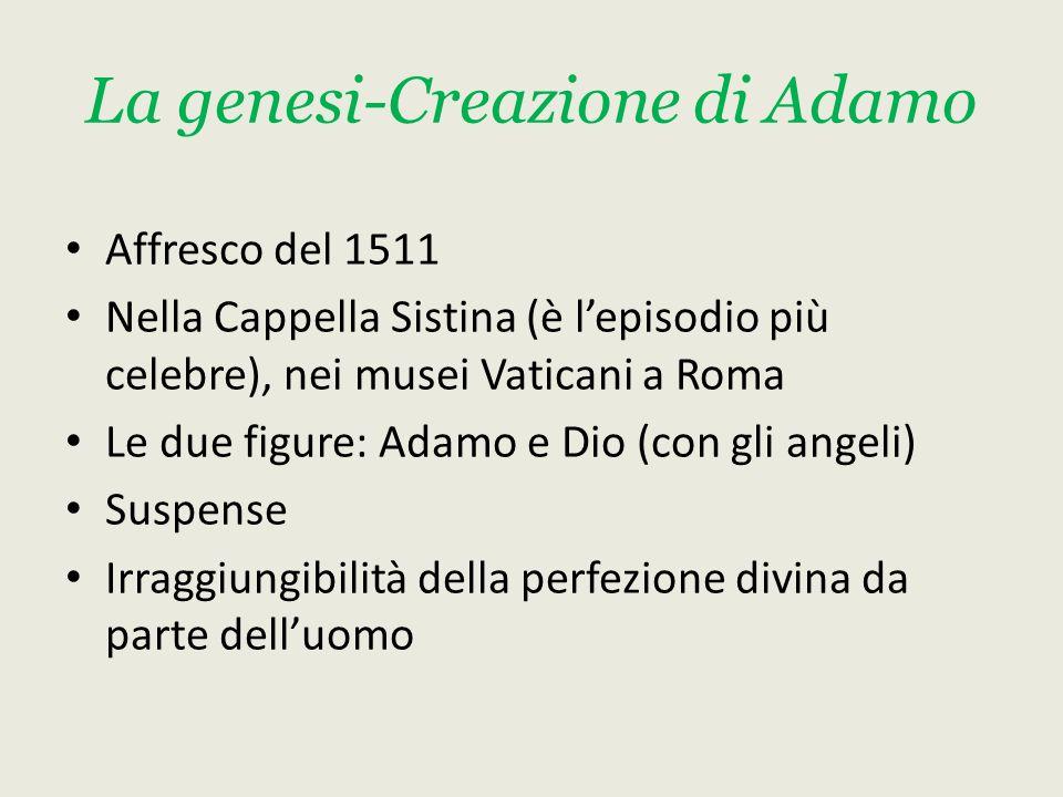 La genesi-Creazione di Adamo