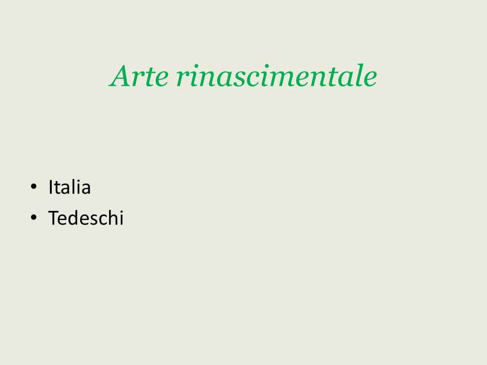 Arte rinascimentale Italia Tedeschi