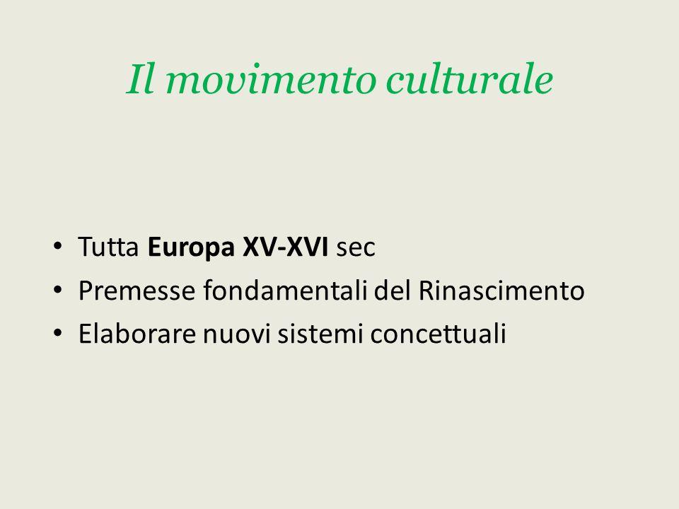 Il movimento culturale