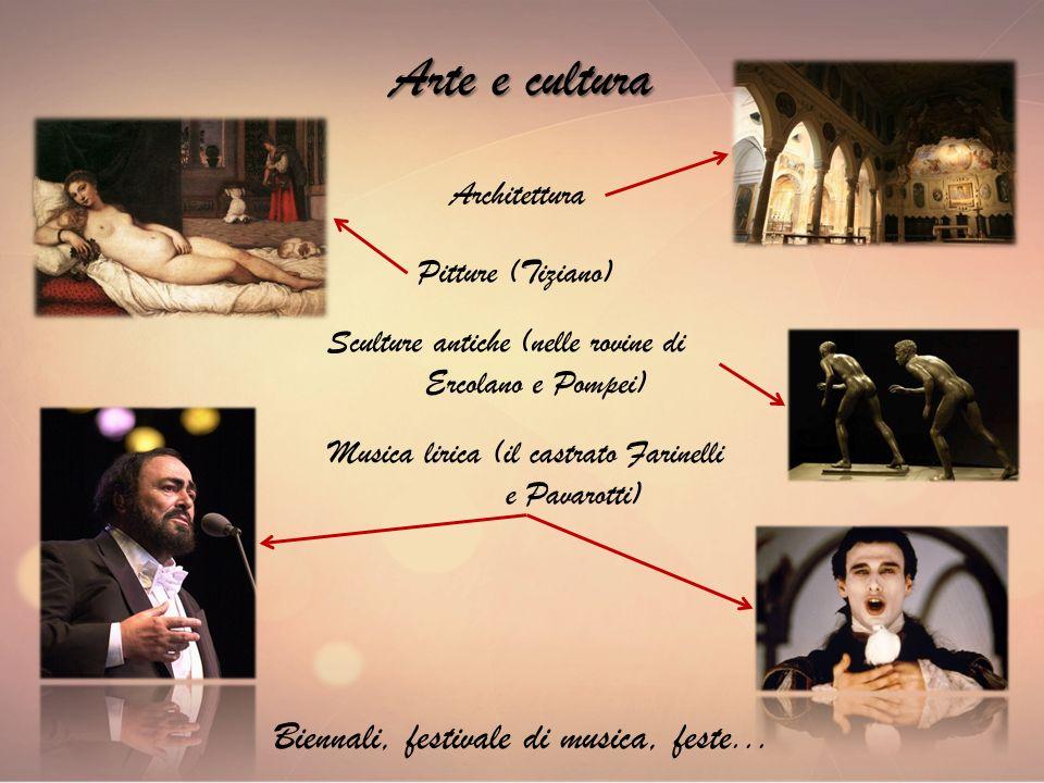 Arte e cultura Biennali, festivale di musica, feste... Architettura