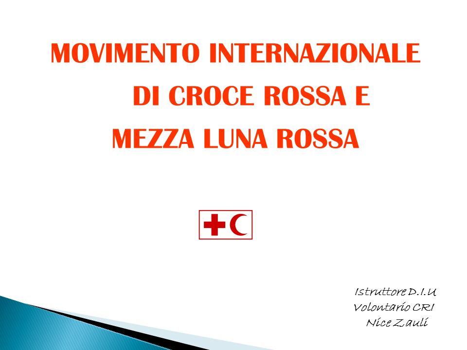 MOVIMENTO INTERNAZIONALE DI CROCE ROSSA E
