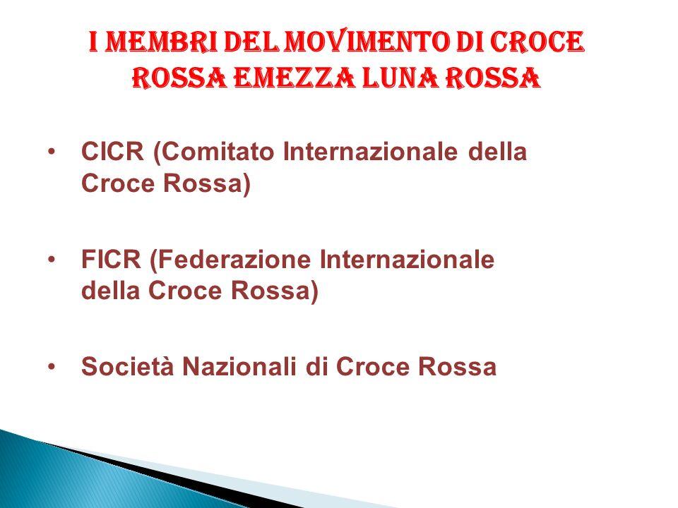 I MEMBRI DEL MOVIMENTO DI CROCE ROSSA EMEZZA LUNA ROSSA