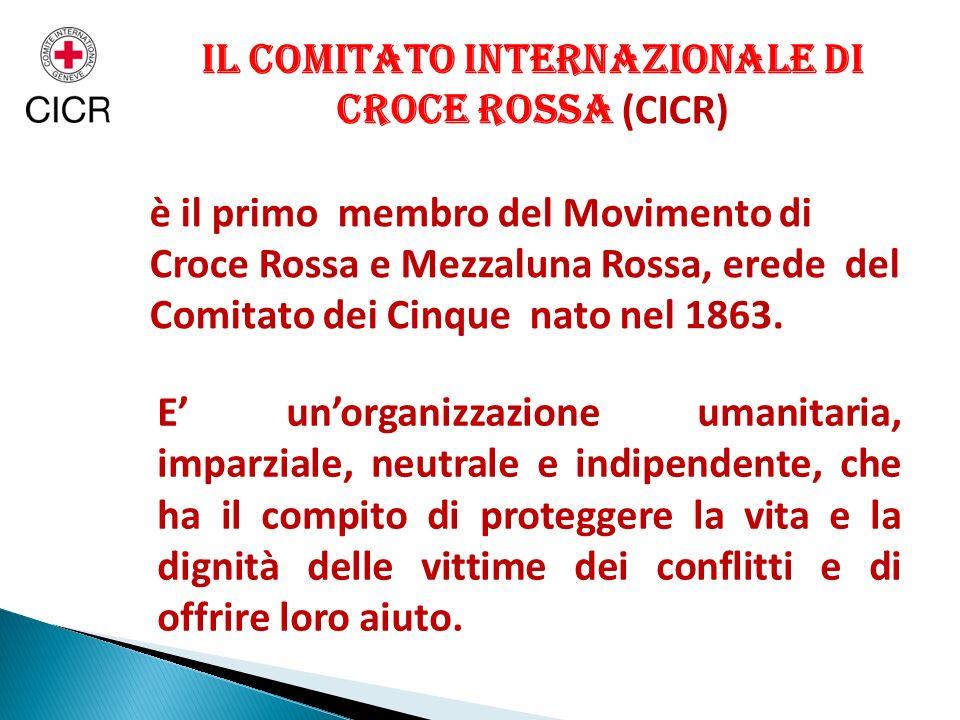Il Comitato Internazionale di Croce Rossa (CICR)