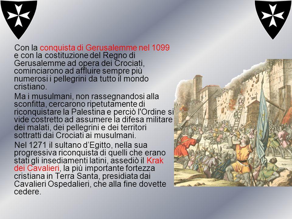 Con la conquista di Gerusalemme nel 1099 e con la costituzione del Regno di Gerusalemme ad opera dei Crociati, cominciarono ad affluire sempre più numerosi i pellegrini da tutto il mondo cristiano.