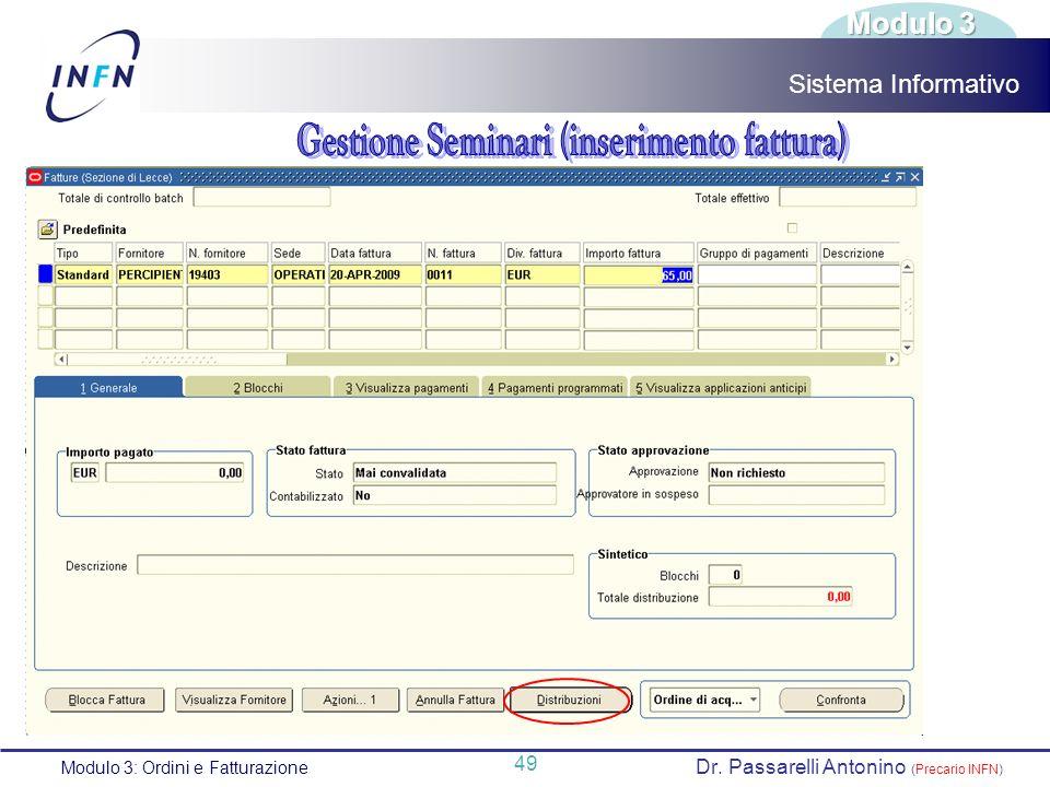 Dr. Passarelli Antonino (Precario INFN)