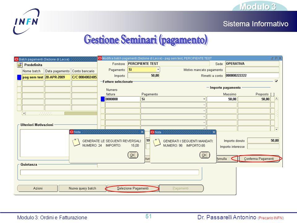 Gestione Seminari (pagamento)