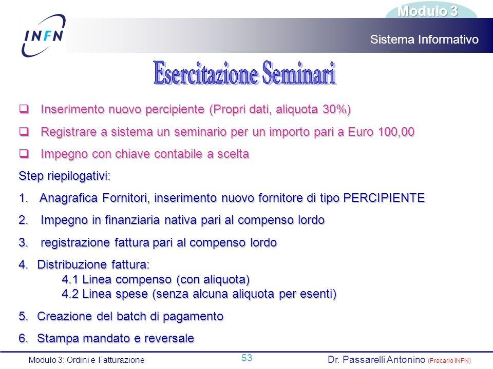 Esercitazione Seminari