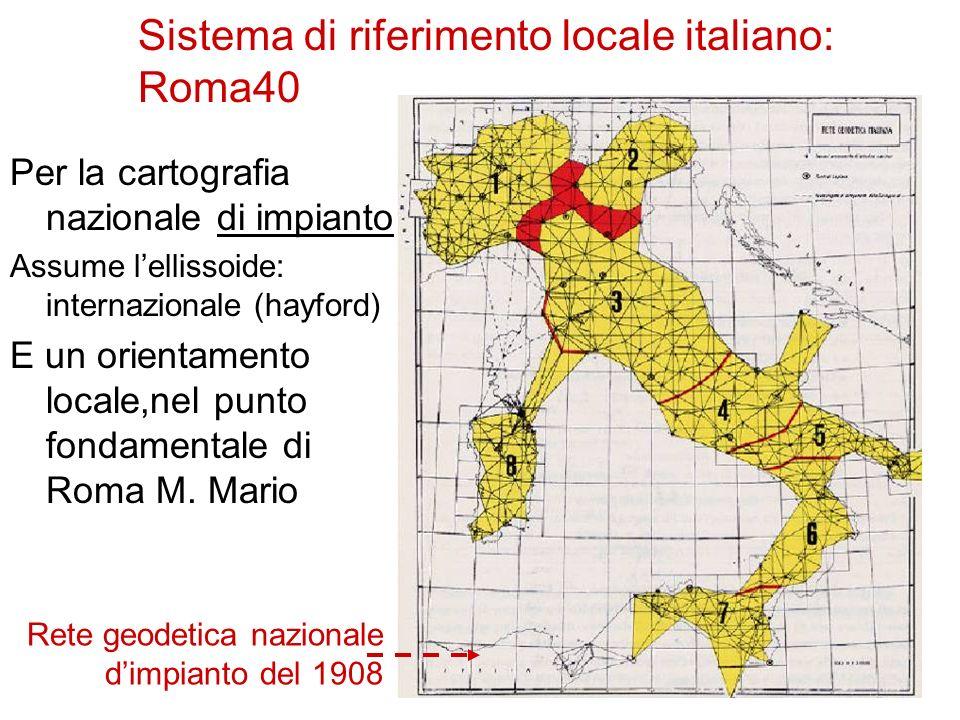 Sistema di riferimento locale italiano: Roma40