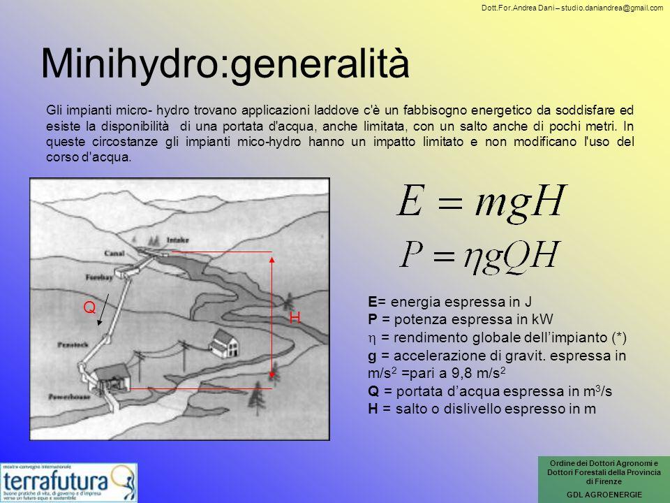 Minihydro:generalità
