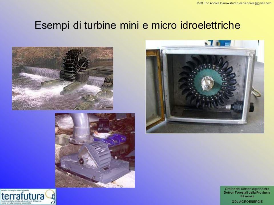 Esempi di turbine mini e micro idroelettriche