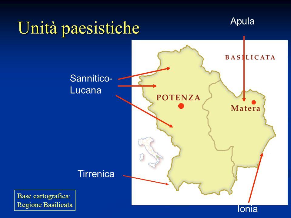 Unità paesistiche Apula Sannitico- Lucana Tirrenica Ionia
