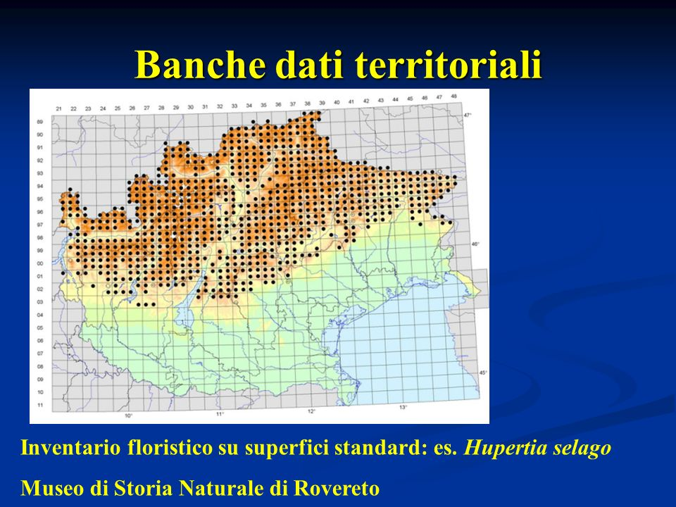 Banche dati territoriali