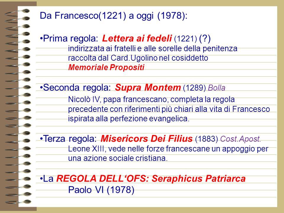 Da Francesco(1221) a oggi (1978):