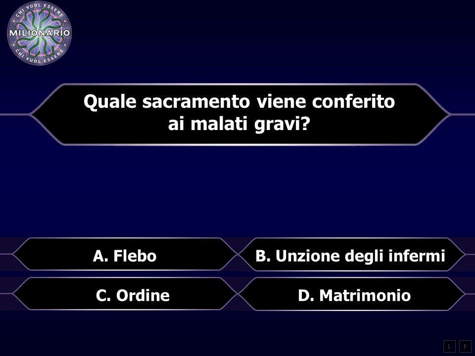 Quale sacramento viene conferito ai malati gravi