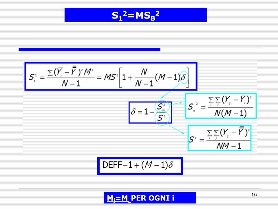 S12=MSB2 Mi=M, PER OGNI i