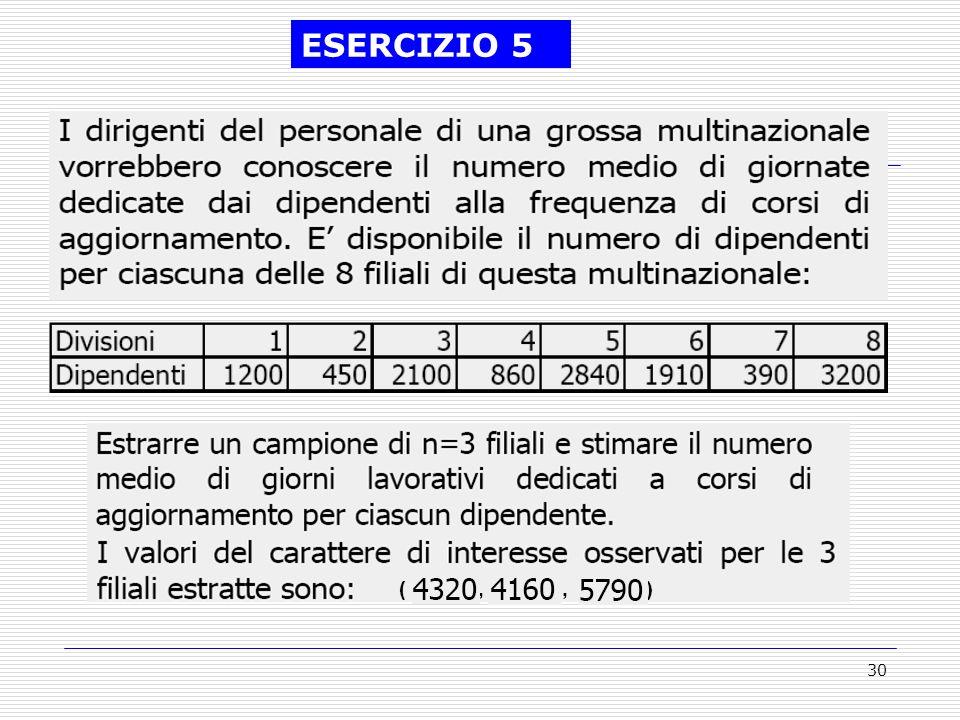 ESERCIZIO 5 ( , , )