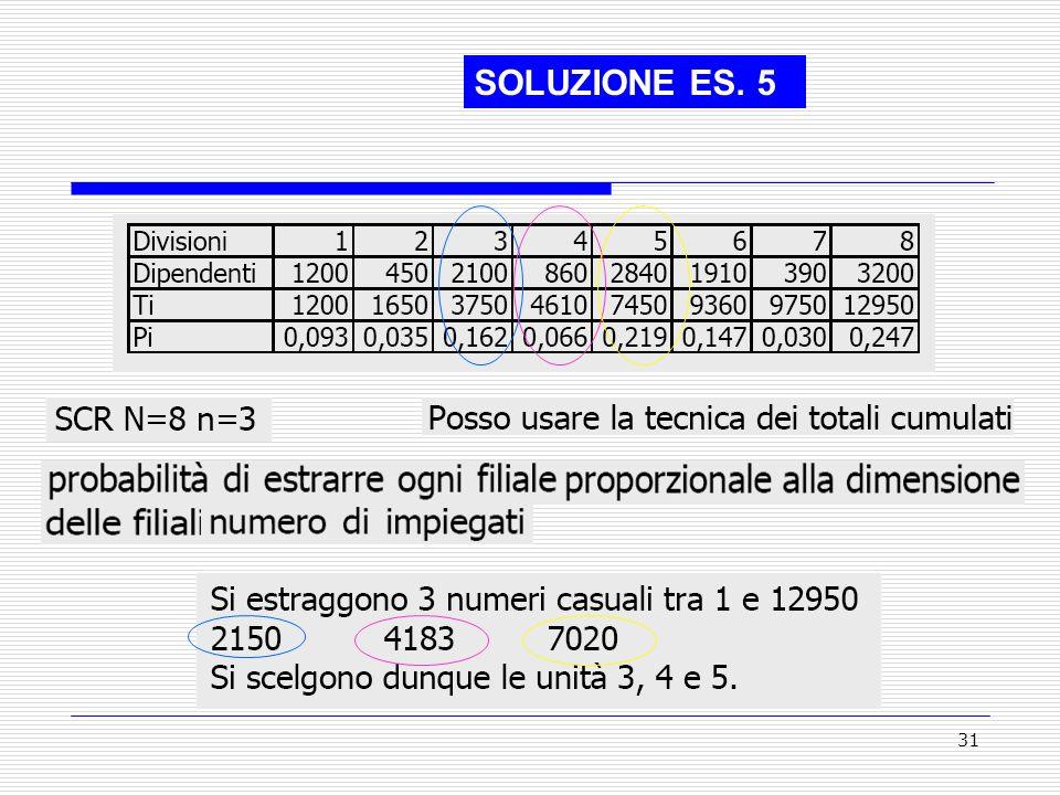 SOLUZIONE ES. 5 ,
