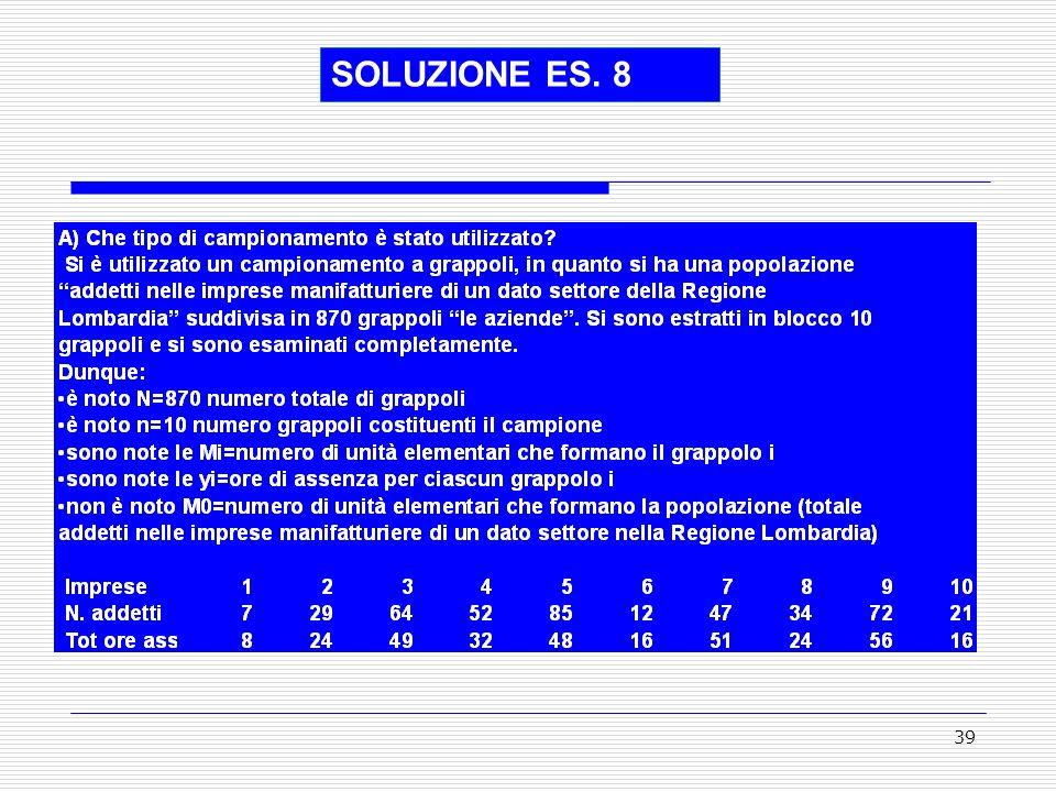 SOLUZIONE ES. 8