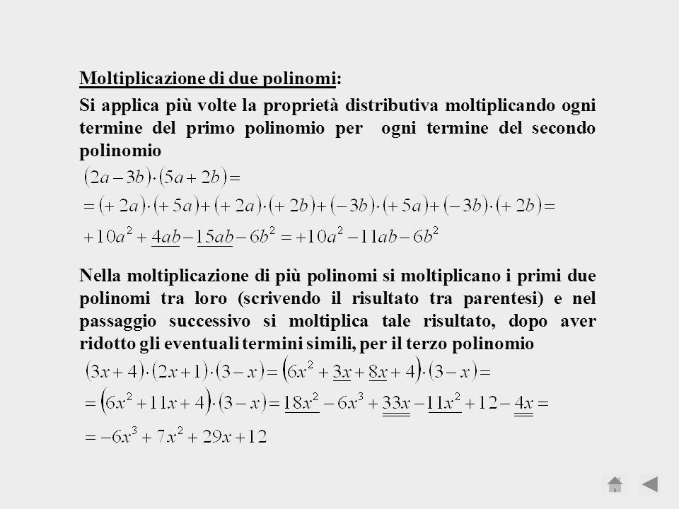 Moltiplicazione di due polinomi: