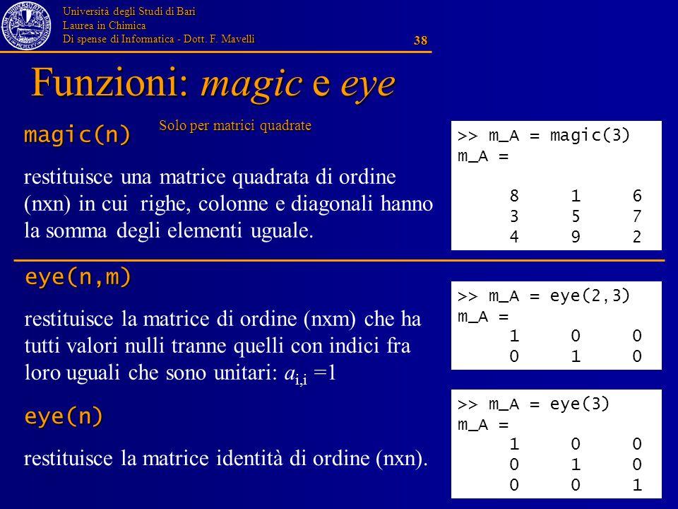 Funzioni: magic e eye magic(n)